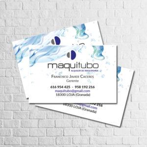 Maquitubo tarjeta